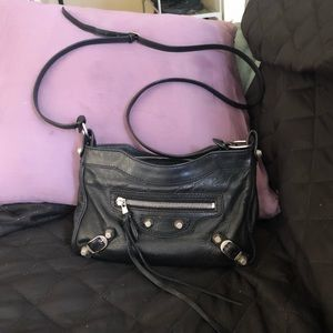 BALENCIAGA Giant 12 Hip Bag Black Lambskin Leather